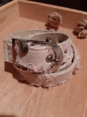 Pasek materiałowy jasnobeżowy