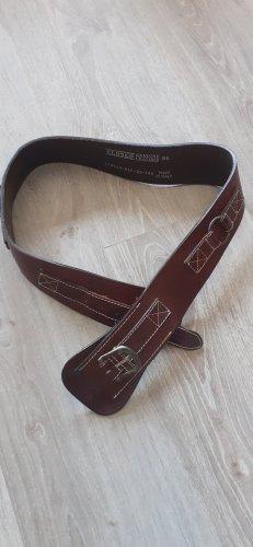 Closed Cinturón de cuero marrón oscuro