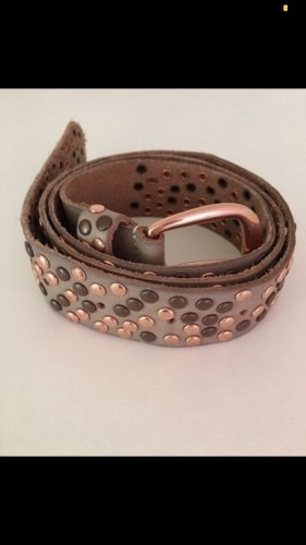 Cowboysbelt Studded Belt khaki-gold-colored