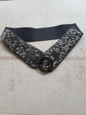 Studded Belt silver-colored-grey