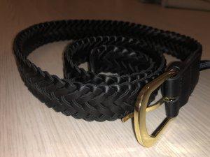 H&M Cinturón trenzado negro