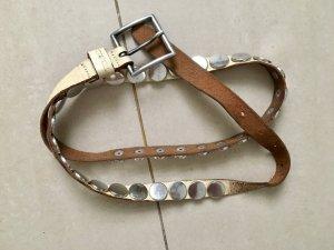 Diesel Cinturón de pinchos blanco puro