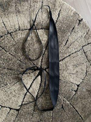 no name Cinturón de cuero de imitación azul oscuro