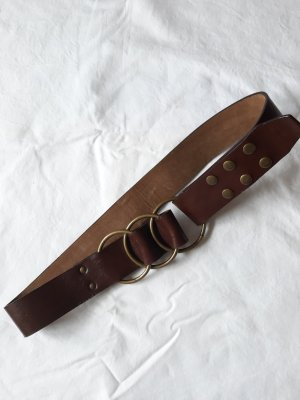 Faux Leather Belt cognac-coloured