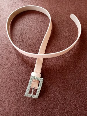 Made in Italy Faux Leather Belt salmon