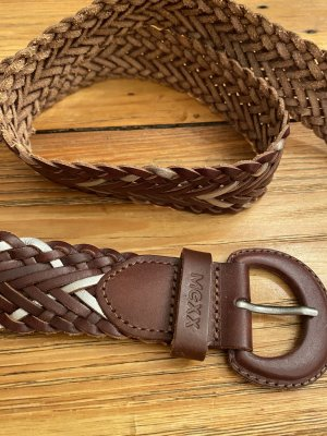 Mexx Leather Belt brown-silver-colored