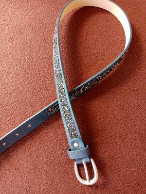Leather Belt slate-gray