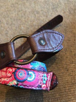 Desigual Cintura di pelle multicolore