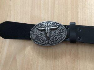 Boucle de ceinture noir-argenté