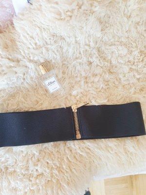 Cinturón de cadera negro-color oro