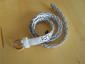 Atmosphere Cinturón trenzado blanco-color plata Imitación de cuero