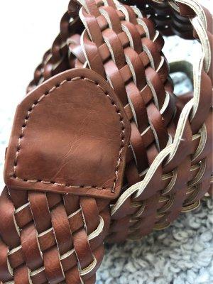 Braided Belt brown-cognac-coloured