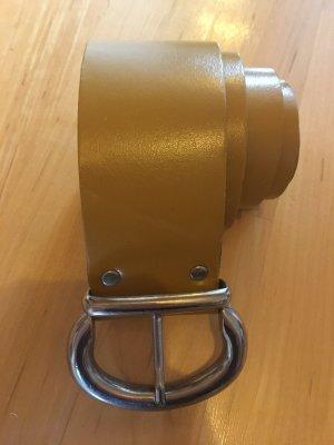 keine Faux Leather Belt ocher-yellow