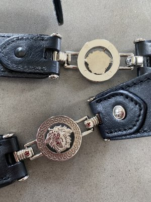 Gianni Versace Leather Belt black leather