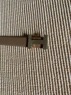 Silbergift Cintura di pelle color cammello-oro