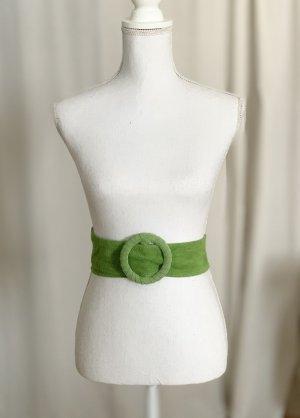 Gürtel Grün Apfelgrün Vintage Leder Taillengürtel NEU