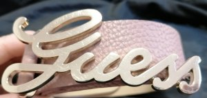 Guess Cinturón de cuero de imitación rosa
