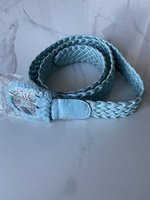 Ceinture tressée bleu azur
