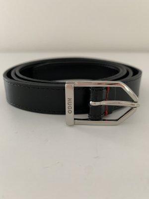 Hugo Boss Cinturón de cuero de imitación negro