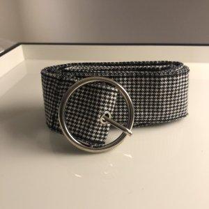 H&M Stoffen riem wit-zwart
