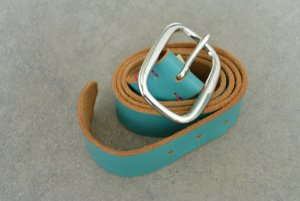Diesel Cinturón de cuero azul claro Cuero