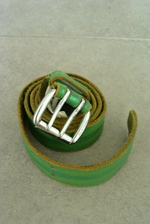 Diesel Leather Belt green leather