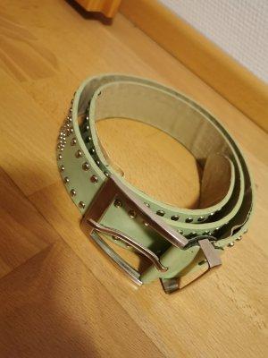 Moda Italia Cintura borchiata verde chiaro