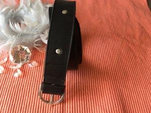 Gürtel in schwarz mit Nieten aus echtem Leder Länge 95cm