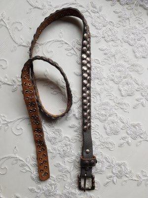 Leather Belt sage green