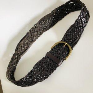 Gürtel Leder 80 cm braun Flechtgürtel boho Hippie Ledergürtel