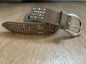 Vanzetti Leather Belt beige