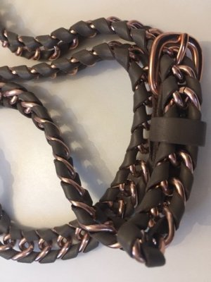 Chain Belt light brown imitation leather