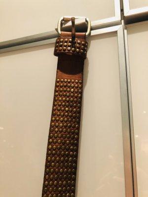 Liebeskind Berlin Leather Belt cognac-coloured