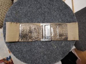 Mango Waist Belt grey brown-beige