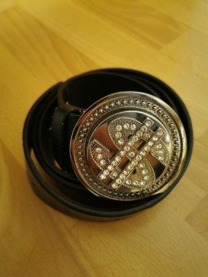 Dollar Cintura borchiata nero-argento