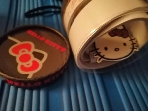 Hello kitty Lederen riem wit