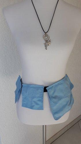 Cintura in tessuto nero-azzurro