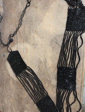 Handmade Ceinture tressée noir