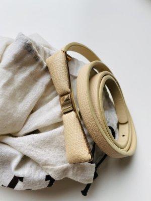 Cintura in ecopelle beige chiaro
