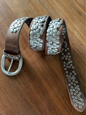 Liebeskind Studded Belt camel-light brown leather