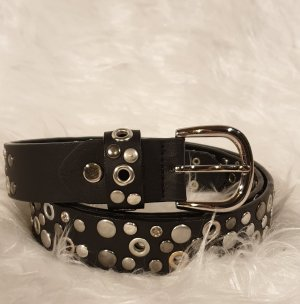 Gina Benotti Cinturón de pinchos negro-color plata