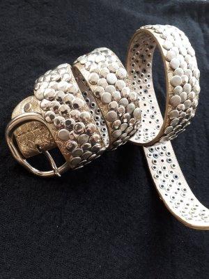 Studded riem zilver-goud