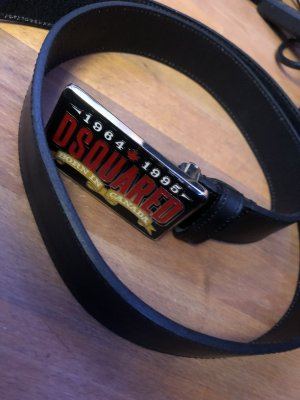 Dsquared2 Leather Belt black-red