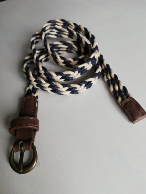 Braided Belt natural white-blue