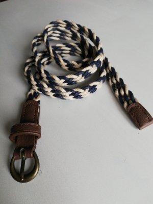 Cinturón trenzado blanco puro-azul
