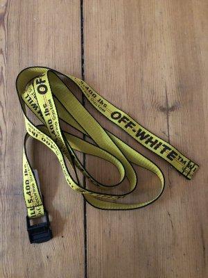 Off-White Pasek materiałowy czarny-żółty