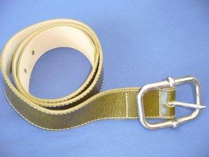 Gürtel olivgrün silberne Schnalle H&M 80 cm