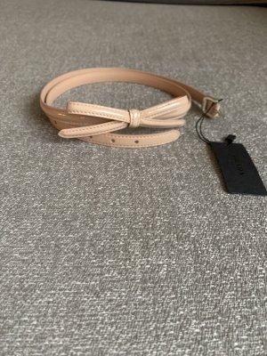 Prada Cintura di pelle rosa antico