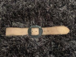 Replay Cinturón de cuero beige