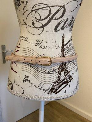 Primark Cinturón de cuero de imitación rosa-color oro
